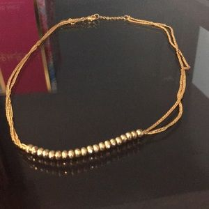 Stella & Dot gold necklace